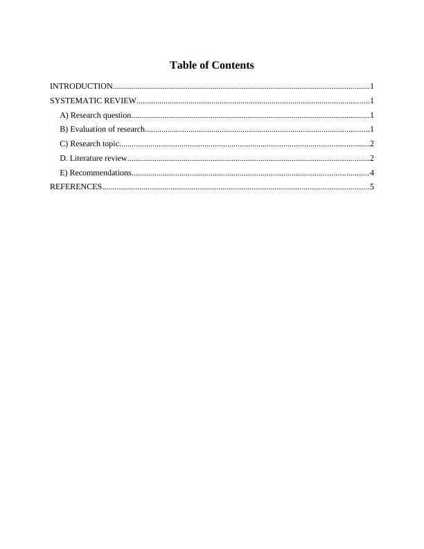 Assignment on Nursing Interventions