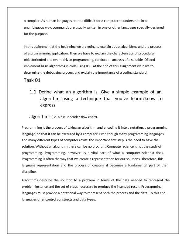 Algorithm and Flow Chart - Doc