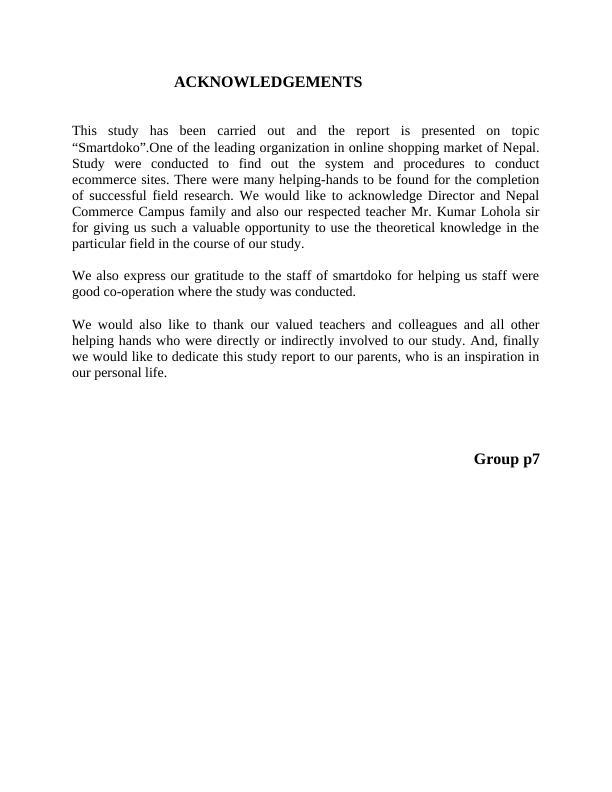 E-commerce Project Report (pdf)