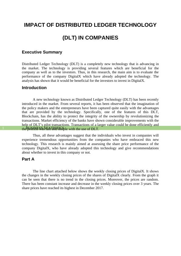 Impact of Distributed Ledger Technology - PDF