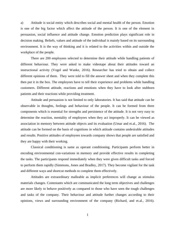 Report on Critical Essay Emotion
