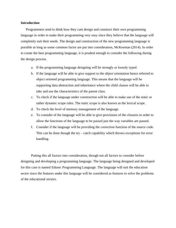Edusec Programming language PDF