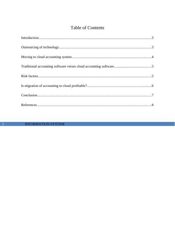 Study on Information System