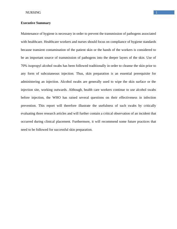 Project Report on Nursing PDF