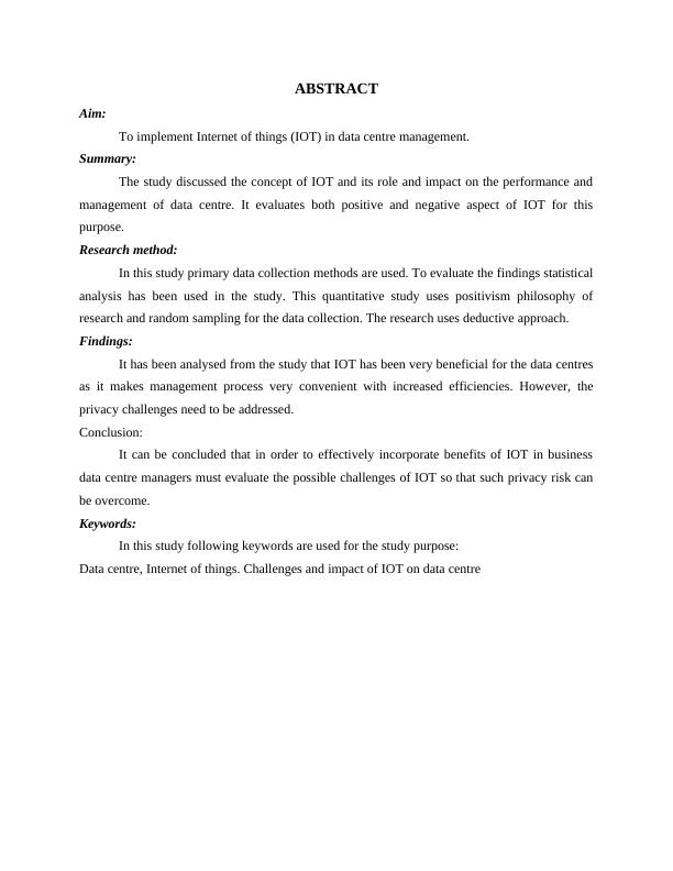 Internet of  Things - Assignment