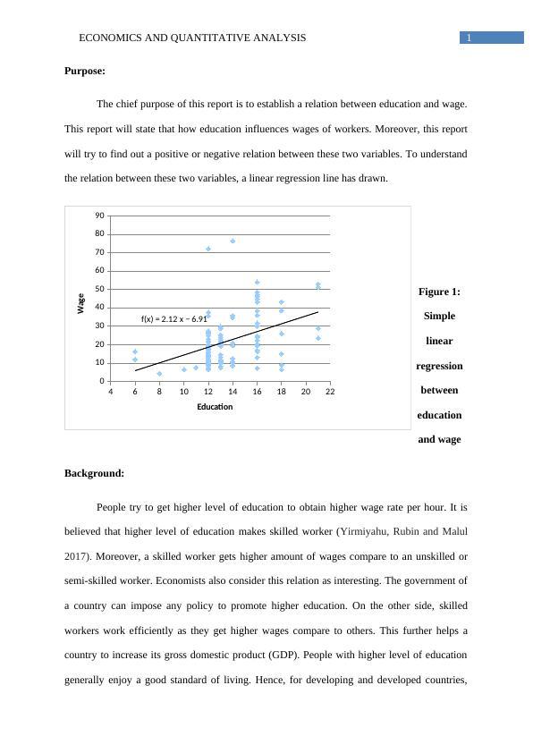 Economics and Quantitative Analysis