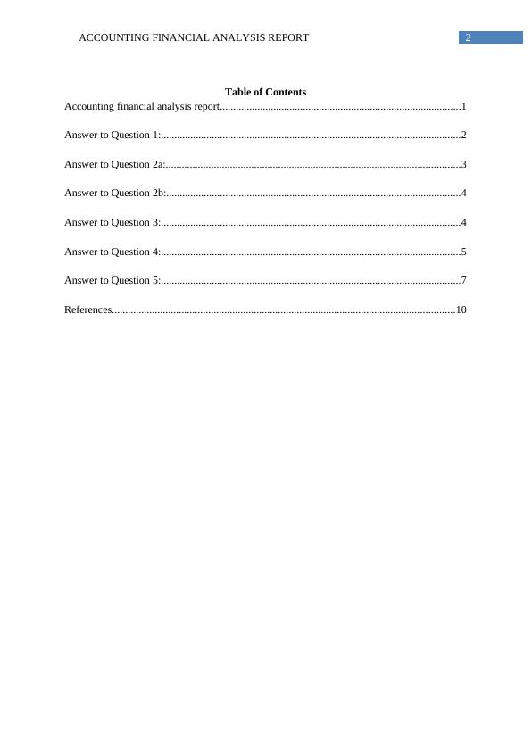Financial Accounting Assignment Solution - (Doc)