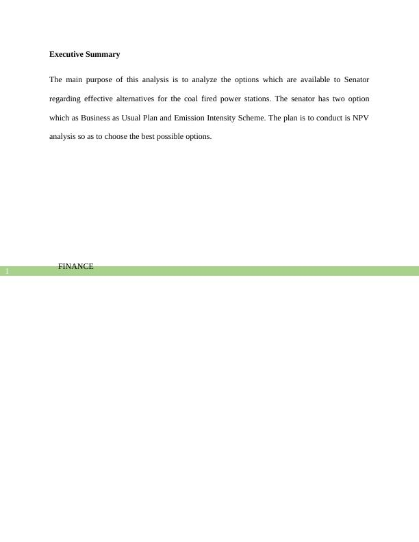(Doc) Business Finance Assignment